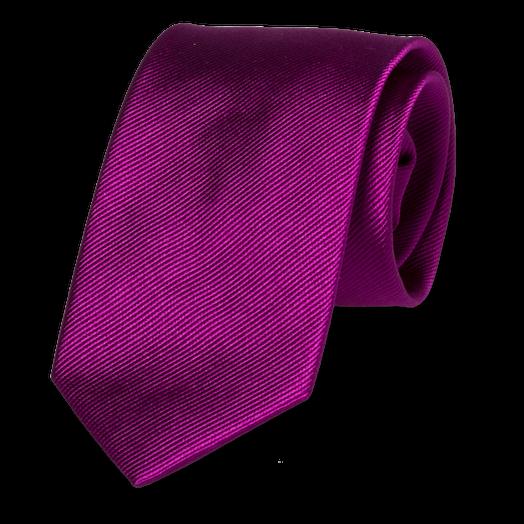 Slim Krawatte Lila Edel Satin Schlips dünne Krawatte Purple Krawatten Lila