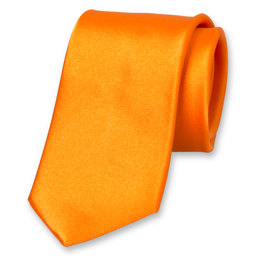 Krawatte Orange - Seidensatin (1)