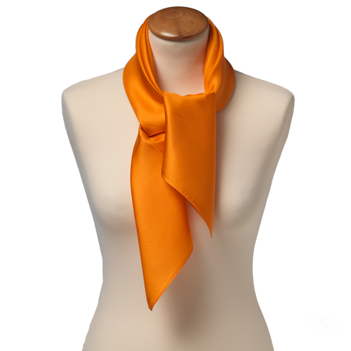 Tuch Orange - Seide - 70x70 cm (1)